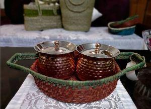 Sabai Baskets with Copper Handis